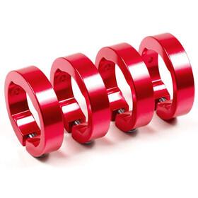 Sixpack reserve klemring aluminium rood